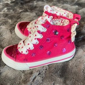 NWT Toddler Girls George glitter high top shoes